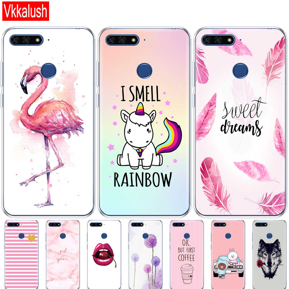 case For Huawei Honor 7C 5.7 Inch Case Cover Soft tpu Silicon Cute Cover Back Protective Phone Case For Huawei honor 7c Aum-L41