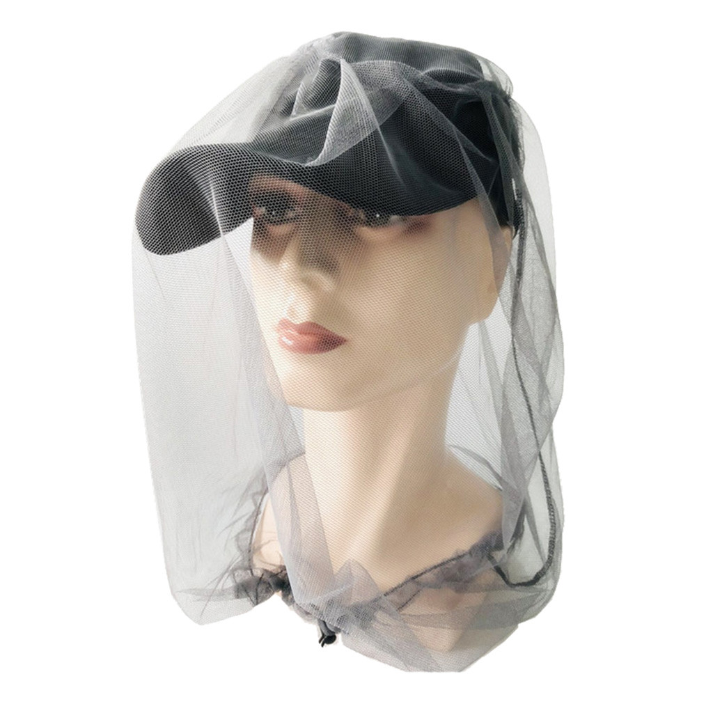 Outdoor Essential Survival Anti Mosquito Bug Bee Insect Mesh Hat Head Face Protect Net Cover Camping Protector Camping Equipment