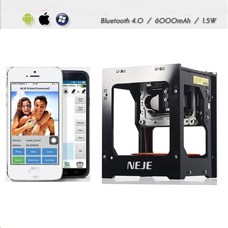 DK-BL 1500/3000mW Bluetooth Laser Engraving Machine Laser Printer CNC Engraving Machine Can Link Mobile Phone