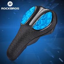 ROCKBROS siodło rowerowe płynne żele silikonowe Bike siodło pokrywa kolarstwo Seat Mat wygodne poduszki miękkie pokrycie siedzenia dla części rowerowych