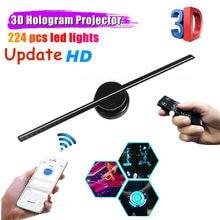 3d holograma projetor publicidade display led fã holográfico imagem holográfica lâmpada wifi 3d publicidade imagem imagem logotipo luz