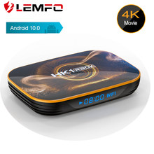 Lemfo caixa de tv android 10.0 rk3318 2020 mais novo caixa de tv 4k hdr10 4g ram 128g rom usb 3.0 suporte google youtube inteligente conjunto 3d caixa superior(China)