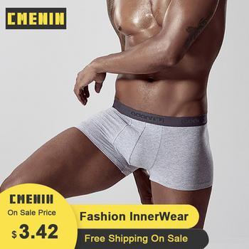 CMENIN Sexy Gay bielizna męska bokserki bawełniane oddychające bokserki Cueca męskie majtki moda męska bielizna bielizna człowiek AD304 tanie i dobre opinie Stałe COTTON