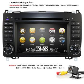 2din car multimedia player car radio car gps dvd for Mercedes/benz/B200/A160/A-class W169/B-class W245/vito/sprinter w906 cam-in image