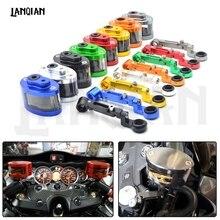 купить Universal Motorcycle Brake Fluid Reservoir Clutch Tank Oil Fluid Cup For honda GSXR 600 MSX125 msx300 yamaha TMAX 500 ZX-6R Z750 по цене 702.11 рублей