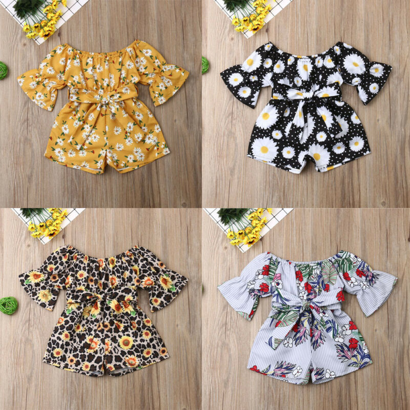 Newborn Baby Girl Floral Romper Long Sleeve Jumpsuit Playsuit Summer Clothes