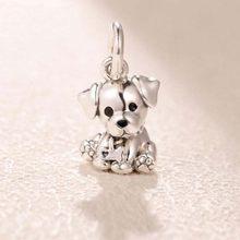 Neue Ankunft 925 Sterling Silber Perlen, Bulldog Welpen Charms fit Ursprüngliche Pandora Armbänder Frauen DIY Schmuck