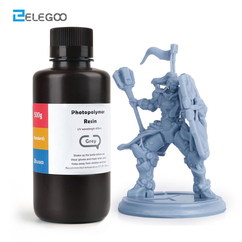 ELEGOO ABS-Like 3D принтер Смола LCD УФ-отверждения Смола 405nm ABS-Like стандартная Фотополимерная смола для LCD 3D печати 500 мл 9 CLR.