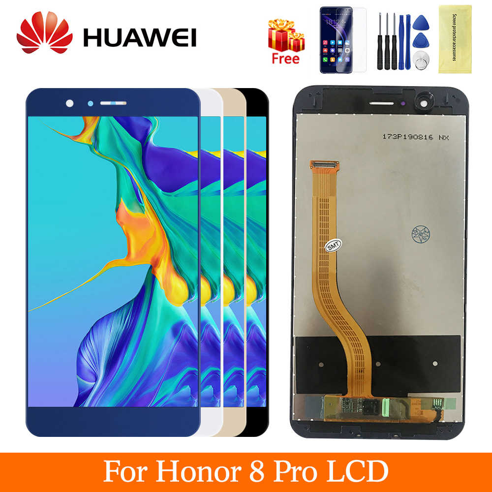 Original huawei honor 8 pro display LCD touch screen substituição digitador assembléia com frame PARA honor 8 pro DUK L09 AL20 LCD