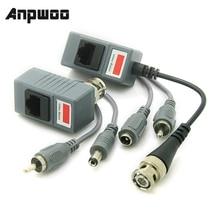 ANPWOO CCTV Ricetrasmettitore Twisted Pair RJ45 UTP Balun BNC Audio Video DC Alimentazione CAT5