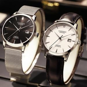 Image 3 - CADISEN Men Watches Automatic Mechanical Wrist Watch MIYOTA 9015 Top Brand Luxury Real Diamond Watch Curved Sapphire Glass Clock