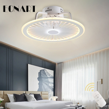 20 Inch modern led ceiling fan light with remote control roof lighting fan bedroom restaurant indoor ac100-220v motor fans light