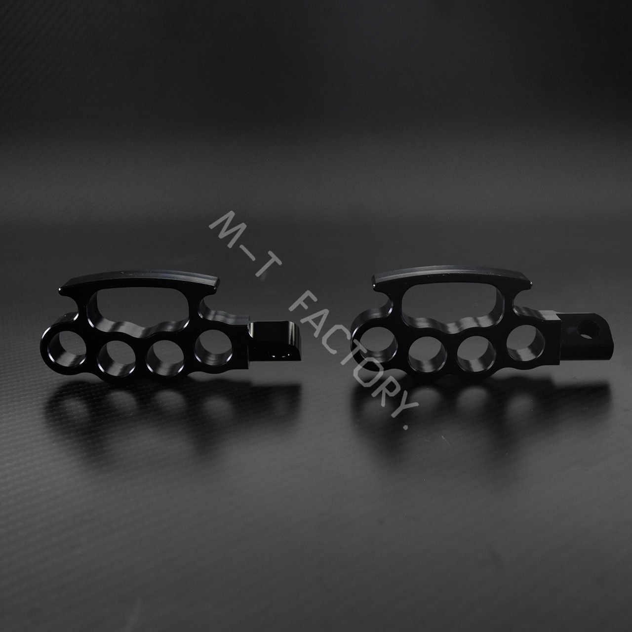 אופנוע מעופף Knuckle דומי בקרת שחור Footpegs Foot יתדות דוושת מנהג להארלי Sportster XL Dyna Softail V-rod