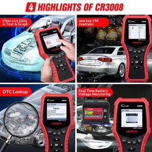 Image 3 - LAUNCH Creader CR3008 Auto OBD2 EOBD code reader scanner CR 3008 for Engine Multi language PK KW850 diagnostic tool