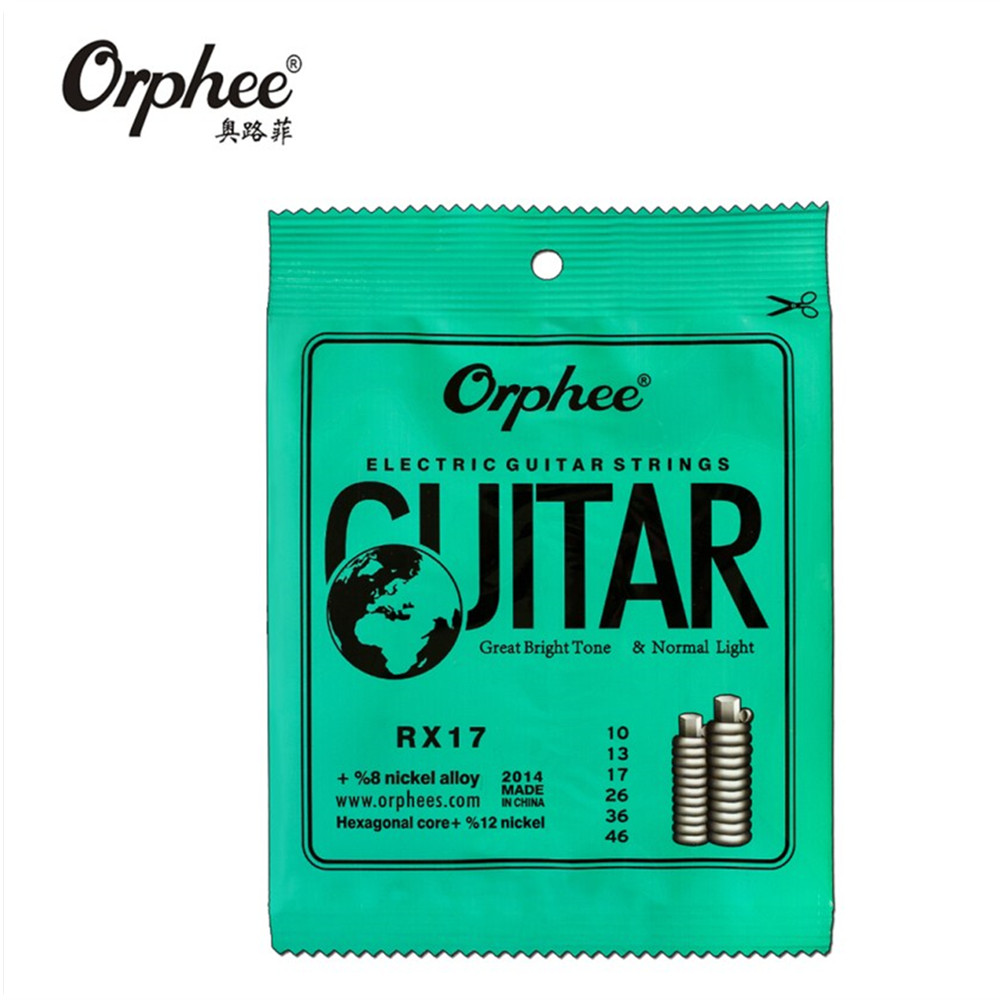 Orphee RX17 010-046 Electric Guitar Strings Nickel Alloy String Super Light Tension Guitar Accessories