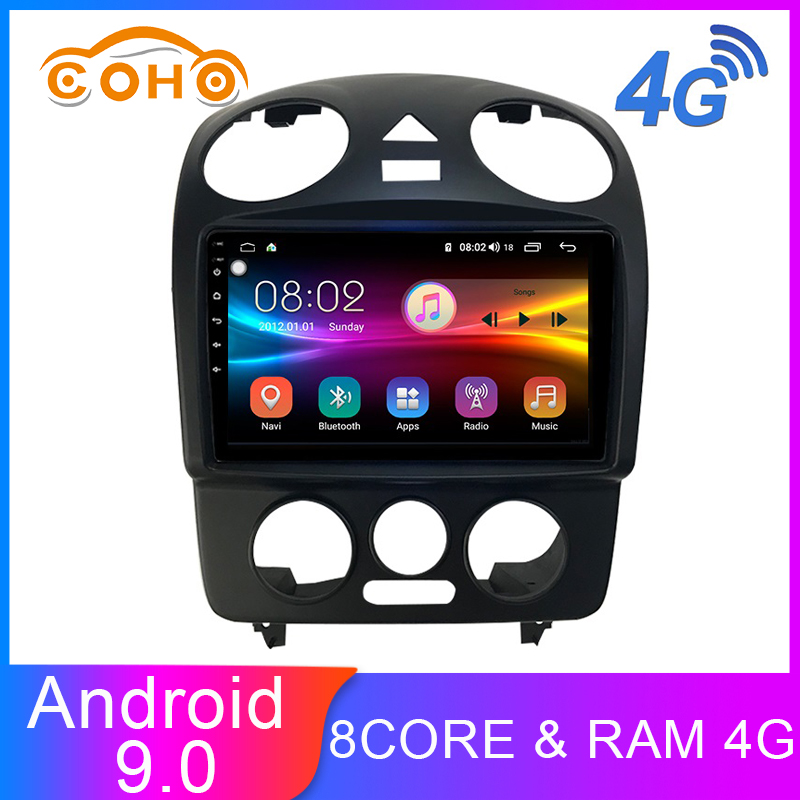 COHO Beetle Car Radio Android 9.0 8-core 4G+64G Dvd Gps Android For 2005-2013 Volkswagen Beetle