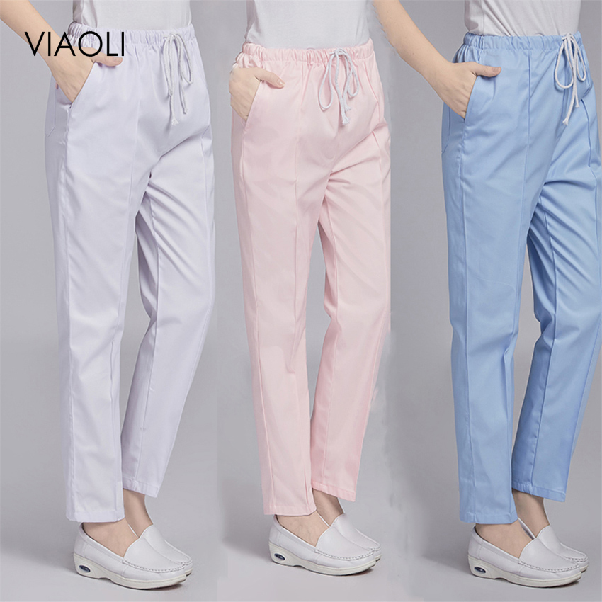 Workwear Pants Medical Uniforms Elastic Waist Plus Nurse Uniform Gown Scrubs Women Costume Accessories Clothing For Nursing Work