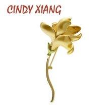 Cindy xiang Новое поступление эмалированные броши в виде цветка