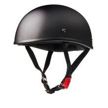 Мото rcycle шлем половина лица шлем Винтаж Ретро cascos para мото скутер, Круизер, чоппер