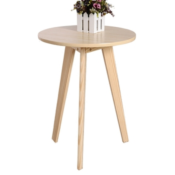 Hotel Guest Room Diameter 60 Pull-out Side Table Table Simple Solid Wood Round Coffee Table Tea Machine Table Small Apartment Th