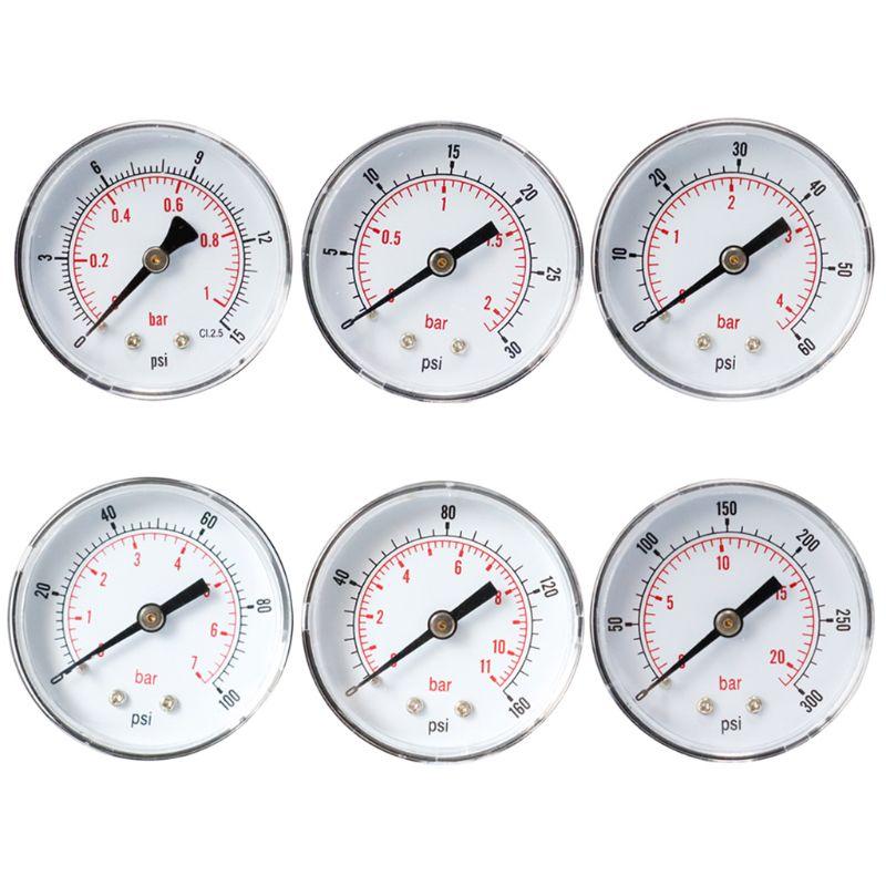 Pressure Gauge 52mm Dial 1/4