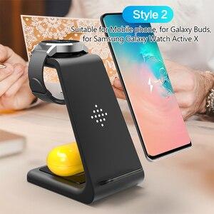 Image 3 - 3 In 1 Snelle Draadloze Oplader Voor Airpods Pro Iwatch 1 2 3 4 5 Iphone 11Pro Xs Max Xr voor Samsung Horloge Actieve/Knoppen/Gear S2 S3 S4