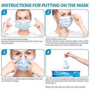 Image 5 - Heißer Verkauf 3 schicht maske 20 stücke Gesicht Mund Masken Non Woven Einweg Anti Staub Schmelzgeblasenen tuch Masken ohrbügel Masken KN95