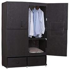 Shelf Wardrobe Fabric-Textile Hinged-Door Folding with 110x46-X-167/110x46-X-167 Ss5023gr-1