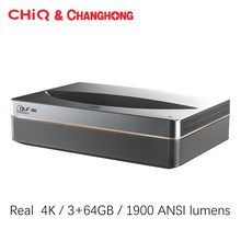 Changhong Chiq B5U Laser Projector Real 4K Projector Android Wifi Home Theater 3 + 64Gb 3840*2160P Korte Focus Beamer Tv Video