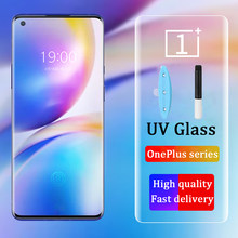 VALAM OnePlus 8 Pro UV Glass Screen Protector Liquid Full Glue Tempered Glass For OnePlus 8 Pro Screen Protector