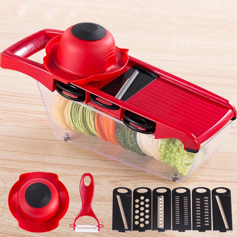 10 teile/satz Manuelle Kartoffel Slicer Gemüse Obst Cutter Edelstahl Mandoline Zwiebel Schäler Karotte Reibe Dicer Küche Werkzeuge