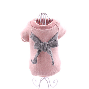 Girls Dog Clothes bow Pet Clothing For Small Medium Dogs coat sweater winter Puppy Dog Costume ropa perro Pet clothing for dogs image