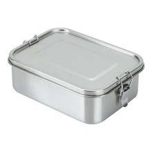 1200Ml Stainless Steel Lunch Box Tableware Food Container Single Layer Student Lunch Boxes Large Capacity Easy Clean with 3 Comp(China)