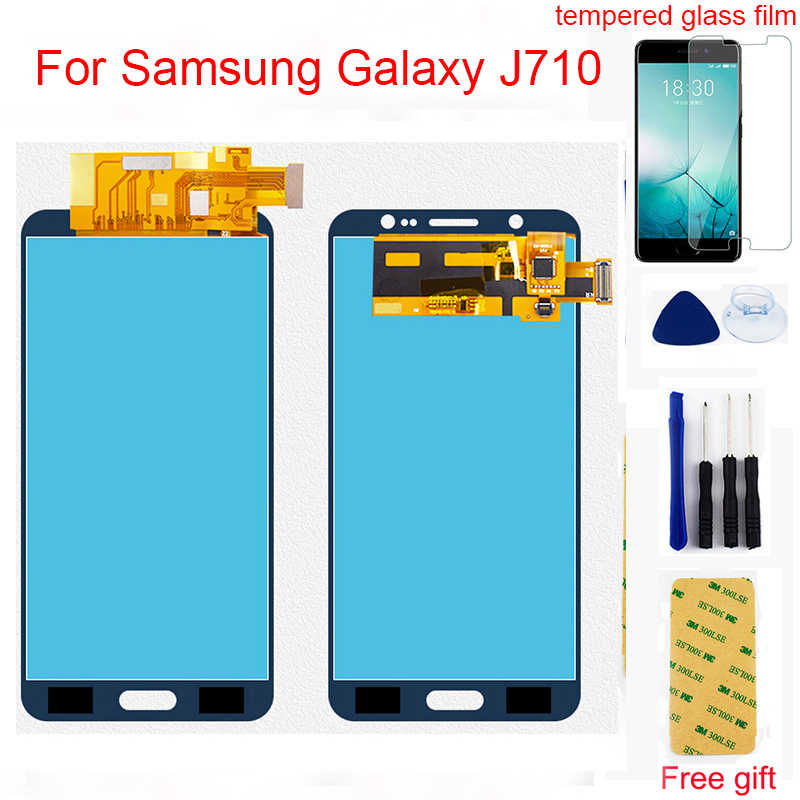 j710fn touch screen For Samsung Galaxy J7 2016 J710 SM-J710F J710M J710H J710FN Touch Screen Digitizer + LCD Display Assembly