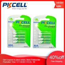 Bateria recarregável ni mh 850mah 1.2v da auto descarga 3a bateria recarregável de nimh aaa do cartão de pkcell 8 pces/2