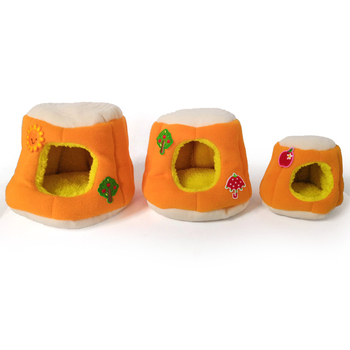 Warm Cotton Tree Stool Bread Shape Small Pet Squirrel Parrot Sugar Glider Hanging Cage Hamster Cage Bed House Hedgehog Nest Toy 2