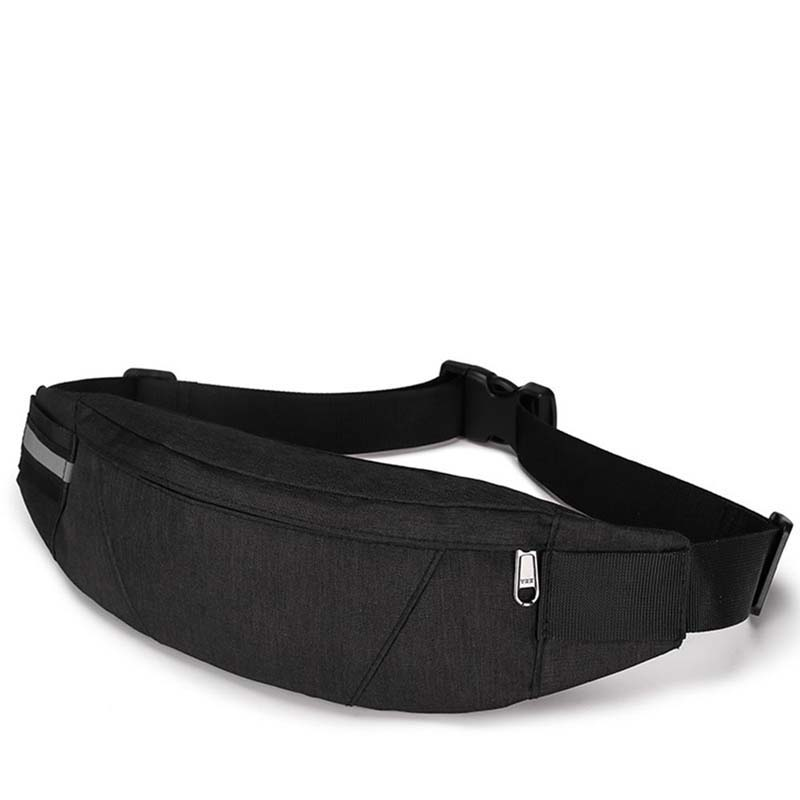 Fanny Packs Mens Waist Packs Black Waterproof Money Bag Men Purse Travel Wallet Chest Belt Bags Male Waist Bags Canvas Bag 2019