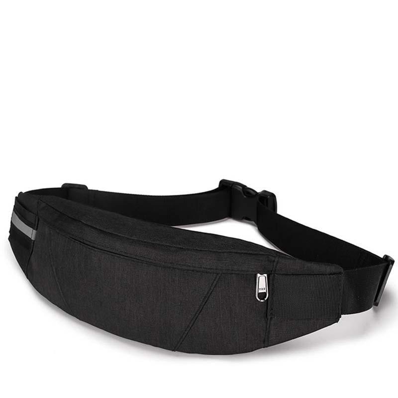 Fanny Packs Mens Waist Packs Black Waterproof Money Bag Men Purse Travel Wallet Chest Belt Bags Male Waist Bags Canvas Bag 2019