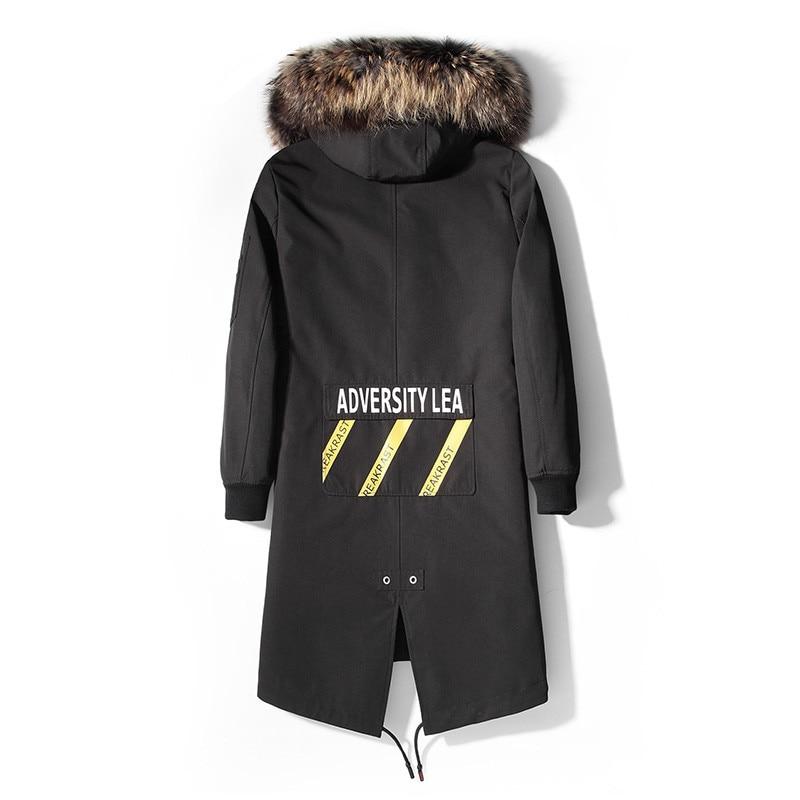 Real Coat Winter Jacket Natural Goat Hair Liner Parka Men Raccoon Fur Collar Warm Jackets Plus Size MC12C164 MY1659
