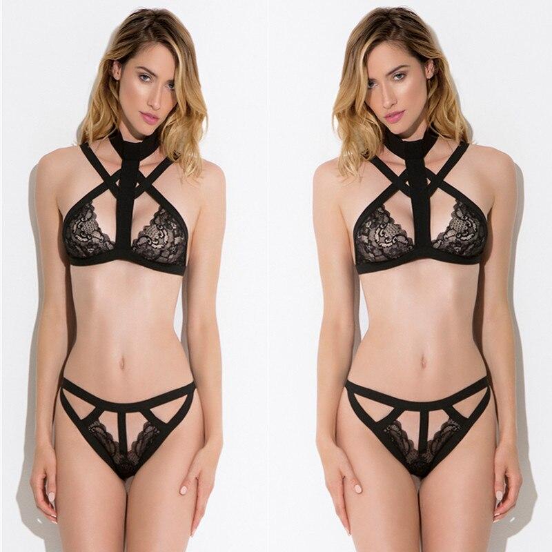 Lingerie Sexy noire, costume porno pour femmes, Bikini, grande taille, vêtements de nuit, ceinture, collection sous-vêtements érotiques