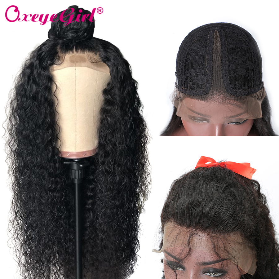 Oxeye Girl T Part Deep Wave Wig Lace Part Human Hair Wigs Pre Plucked With Baby Hair T Part Wig Brazilian Hair Wigs Remy