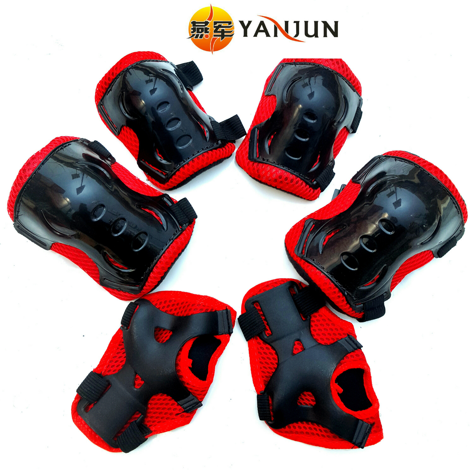 Children Roller Skating Thick Protective Clothing Skates Roller Skates Butterfly Protective Clothing Six Pieces Set Wholesale Go