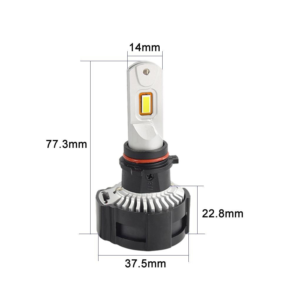 1 комплект H7 P18 светодиодный фар супер яркий светодиодный H4 H8 H9 H11 9005 9006 HB3/HB4 9012 HIR2 линия резки фокусирует луч Turbo Вентилятор 104W 18000LM - 2