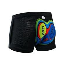 Novo 2021 atualizar ciclismo shorts ciclismo roupa interior pro 19d gel almofada à prova de choque ciclismo underpant bicicleta shorts roupa interior
