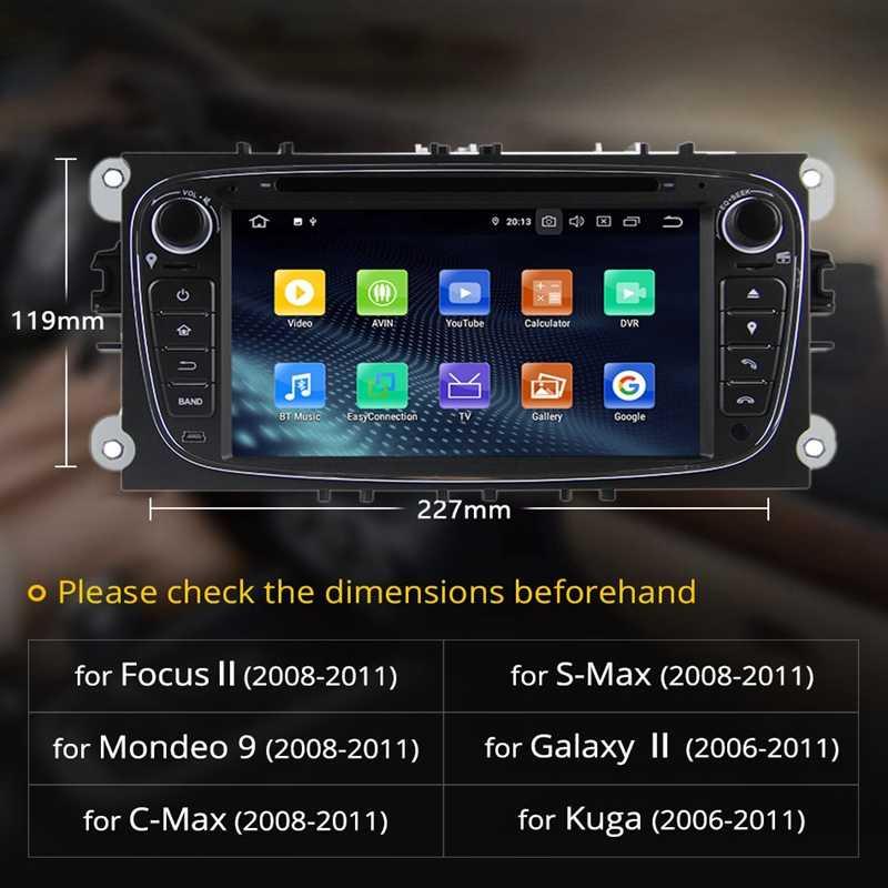 2 Din 7 インチのアンドロイド 9.0 車の Dvd マルチメディアプレーヤー 2 グラム + 16 グラム GPS ナビゲーション Wifi Bluetooth オーディオステレオラジオプレーヤーの f ord Focu