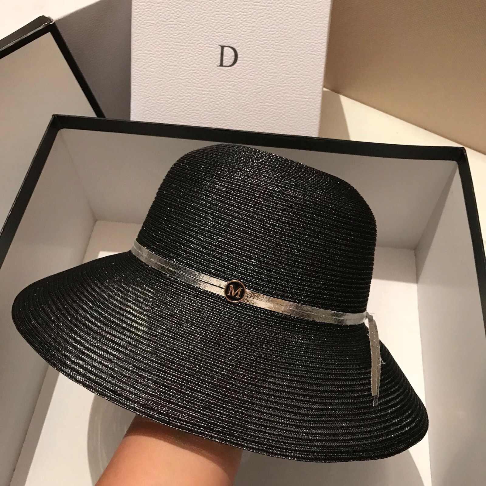 2020 جديد إمرأة قبعة للشاطئ قبعة من القش بحافة عريضة مكافحة UV UPF50 مرن قبعة الشمس قبعة طوي قبعة صيفية كنتاكي ديربي التنفس بحرية