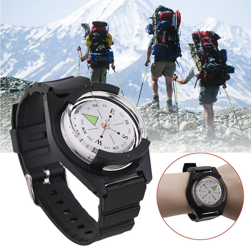 Tactical Wrist Compass Watch Military Outdoor Survival Strap Band Bracelet Watch Band Gear Compass For Climbing Hiking