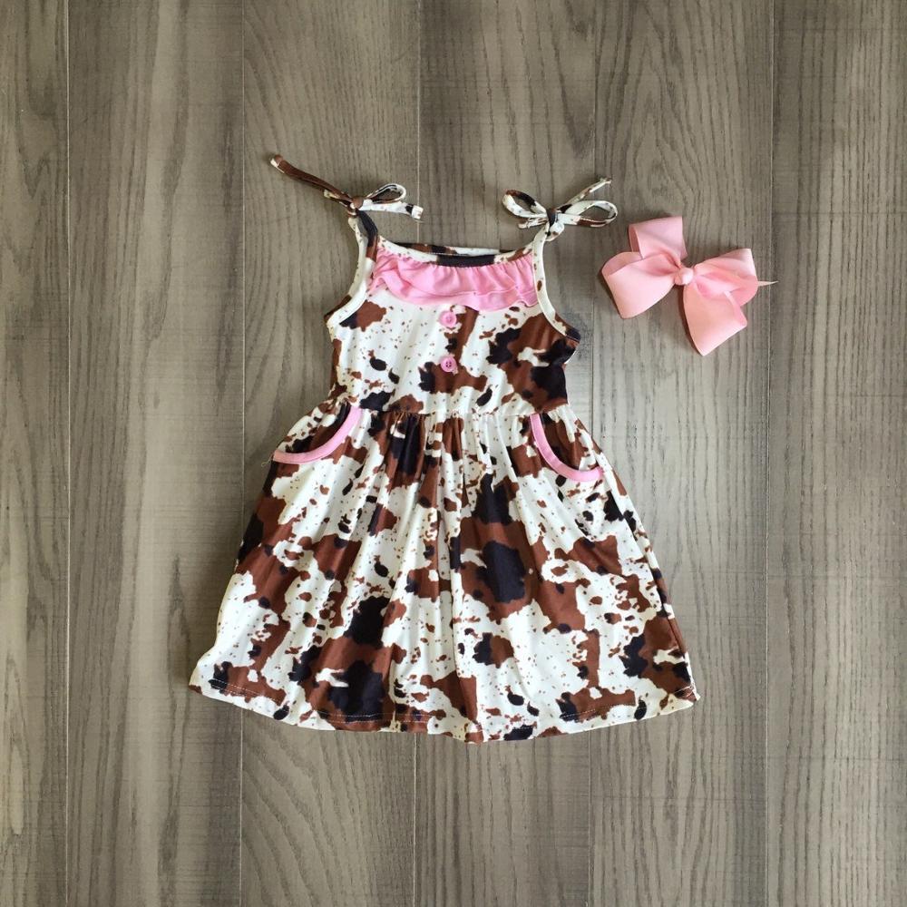 Baby Girls Summer Dress Girls Tie Dye Dress Girls Sleeveless Dress With Bow