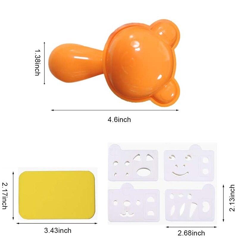 Животные суши Сделай Сам мультфильм форма для Onigiri пресс-форма кухонная форма для рисовых шариков с Nori-Cutter вечерние аксессуары Bento-5
