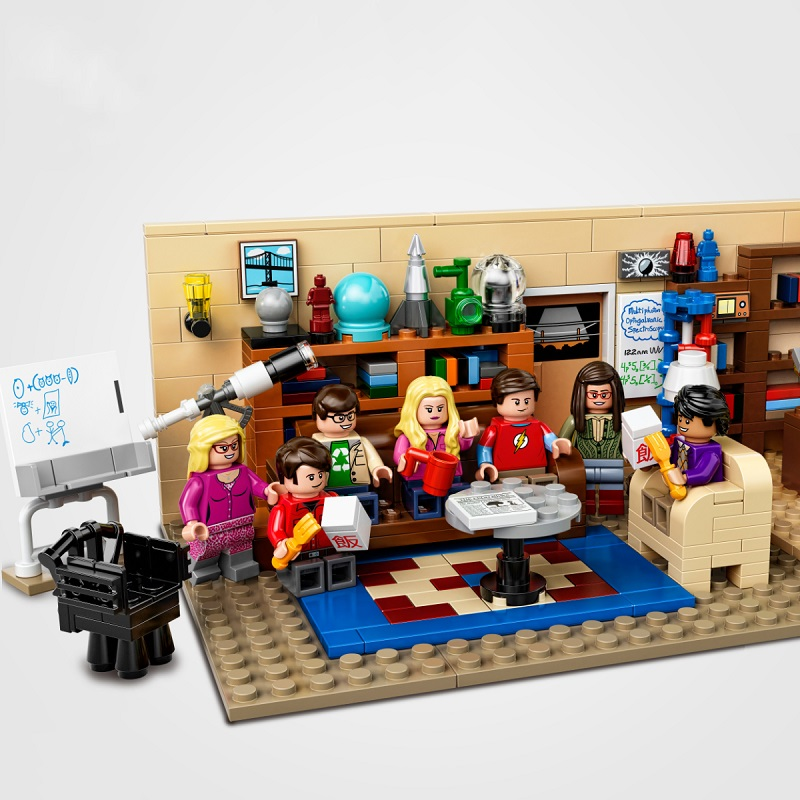 NEW The 21302 Big Bang Theory TBBT MOC Building Blocks Comedy Friends Central Perk TV Series Toys For Kids Child Adult Gift image